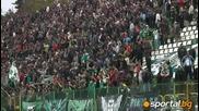 Край на мача: Радост за Феновете На Пирин