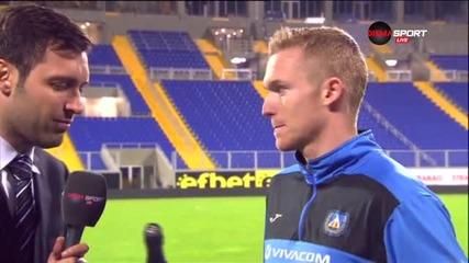 Играчът на мача Роман Прохазка и мнението му след победата над Ботев
