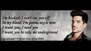 Adam Lambert - Underground - (official Audio) + Lyrics