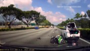 Kawasaki Ninja 250 vs car Deadly accident in high way road Singapore