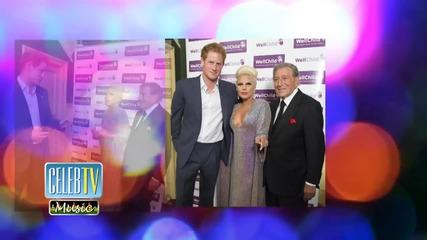 Prince Harry Meets Lady Gaga!