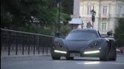 Видео на първата серийна Бг хипер кола Sin R1, заснето в Русе