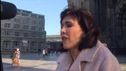 Художничка протестира гола срещу насилието в Кьолн