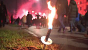 Denmark: Protesters with torches march against COVID restrictions in Copenhagen