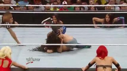 Naomi vs Aj Lee - Lumber Jill Match Raw, March 31, 2014