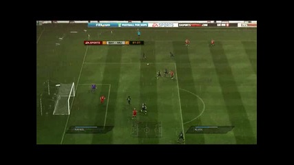 Fifa 11 Bayern Munchen 0:4 Man.united part 2