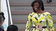 Michelle Obama Wows in Neon Green Dress in Japanx