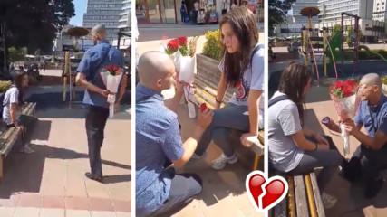 Хит в социалните мрежи: Момче от Добрич предложи на приятелката си, тя му отказа