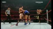 Raw 09/28/2009 Santino Marella & Hornswoggle vs Chavo Guerrero & Chris Masters