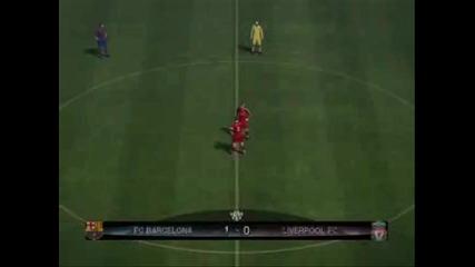 Pes 2010 Pc Demo Gameplay Liverpool vs Barcelona