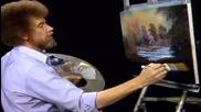 S07 Радостта на живописта с Bob Ross E13 - скрит водопад finale ღобучение в рисуване, живописღ