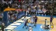 La Lakers 104 @ 97 Denver Nuggets. Kobe Bryant 33 pt Big 4th