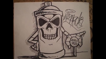 skull spraycan characters by wizard