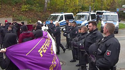 Germany: Antifa rallies against AfD youth wing congress in Barsinghausen