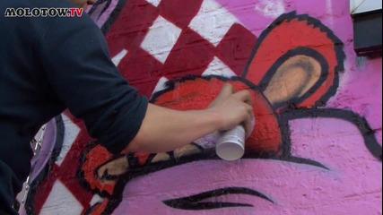 Graffiti - (molotow.tv) Alfa i Towns * High Quality *