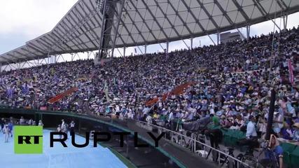 Япония: Дрон показва масов протест срещу американска самолетна база