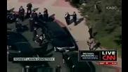 Майкъл Джексън - качването на ковчега в лимузината
