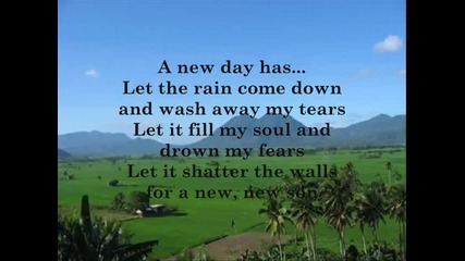 a new day has come with lyrics by celine dion