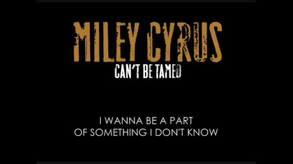 Miley Cyrus - Cant Be Tamed [ Karaoke / Instrumental ]