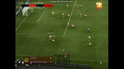Pes 2012 - Манчестър Юнайтед - Борусия Дордтмунд