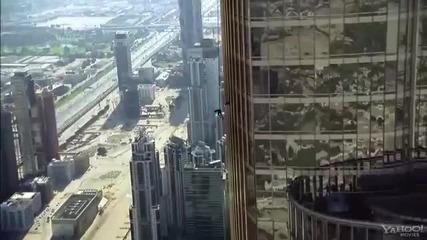 том круз прави каскада на Burj Khalifa mission impossible 4
