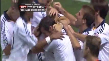 [hq] Страхотен Гол на David Beckham срещу Chivas Usa 30/08/09