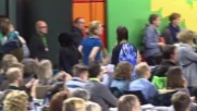 Germany: Daimler CEO met with protests at Green Party congress in Munster