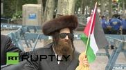 USA: Orthodox Jews protest ahead of Israeli PM Netanyahu's address at UNGA