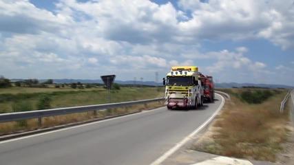 Репатриране на аварирал 70 тонен кран от Кърнаре до сервиза за ремонт 12.06.2015