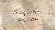 [превод + lyrics] Miley Cyrus - Stay