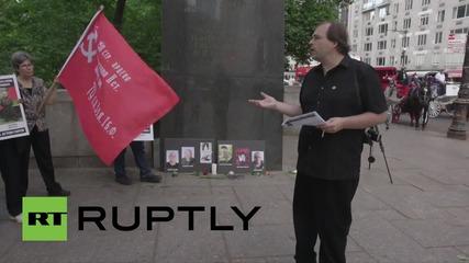 Протести в САЩ срещу американската подкрепа за украинските неонацисти