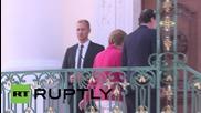 Germany: Merkel welcomes Spanish PM Rajoy to Meseberg Castle for bilateral talks