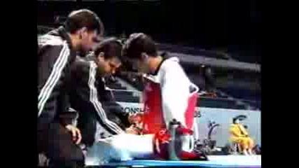 Taekwondo Triple Dolyo Chagi