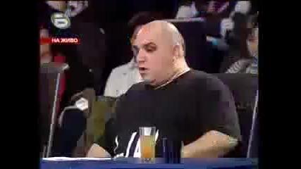 Music Idol 2 - Иван Ангелов и Фънки се псуват в ефир