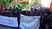 Greece: Kurds in Athens protest in solidarity with the people of Afrin