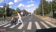 Късметлии пешеходци - Top 10 На косъм от смъртта междувременно в Русия