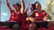 Фелипе Маса и Фернандо Алонсо се забавляват преди Състезание.
