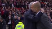 Гуардиола и Моуриньо с топъл поздрав преди Юнайтед - Сити