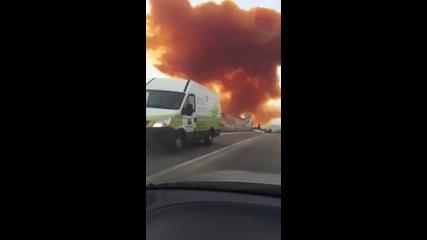 Токсичен облак над Испания