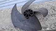 Четирилопатна аксиална подводна хидрокинетична турбина за бавно течащи води tonchev.net