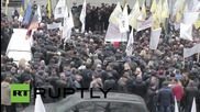 Ukraine: Tariff Maidan protesters continue encampment outside Cabinet of Ministers