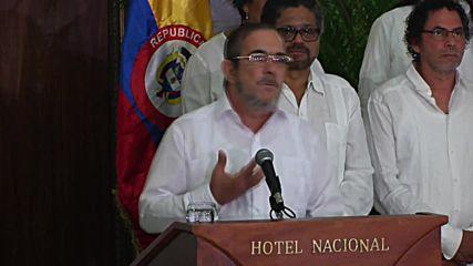 Cuba: FARC's leader announces definitive ceasefire