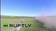 Гонка между танкове в Луганск