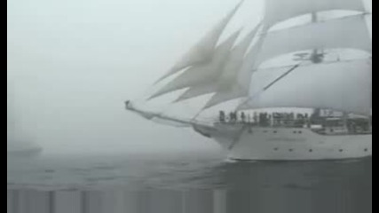 Tall Ships in the mist