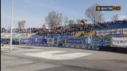 """Обърнати знамена и транспаранти в сектора на """"сините"""" на Герена"""