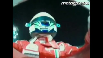 2007 Motogp World Champion Casey Stoner beats Ferrari