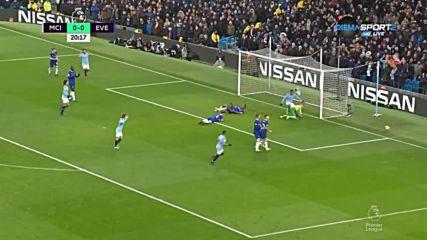 Манчестър Сити - Евертън 1:0 /първо полувреме/