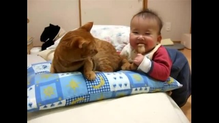 Бебе и котешка опашка