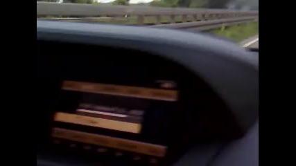Mercedes S600 яде Bmw M3 с парцалите