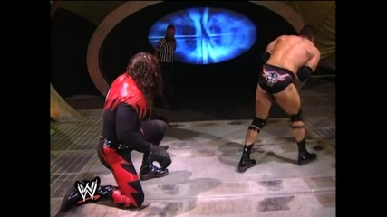 The Rock vs Kane in No Holds Barred on Smackdown